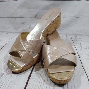Jimmy Choo Panna patent leather cork sandals